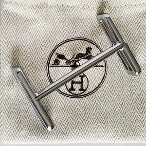 Hermes Silver IDEM Belt Buckle